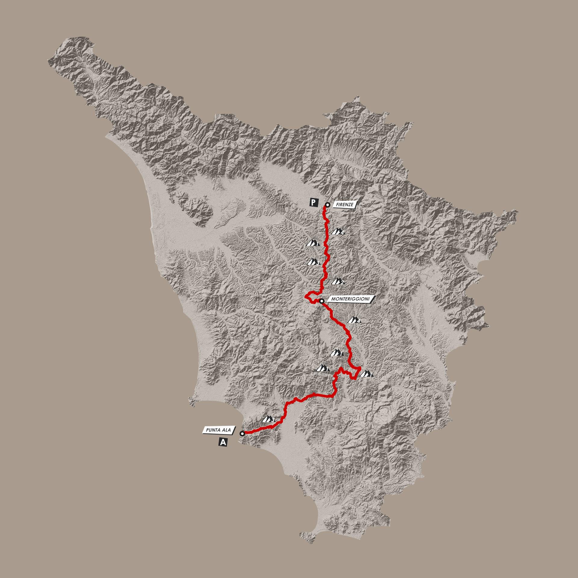 Tracciato Fiorino Mud 2020 Gravel in Tuscany